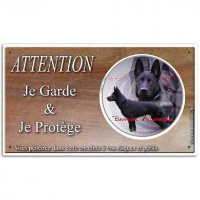 Plaque chien de berger allemand noir en grands et petits calibres