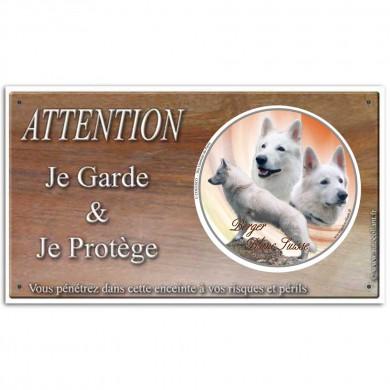Panneau berger blanc suisse et le meilleur chien de garde