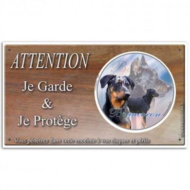 Pancarte pour chien Beauceron arlequin