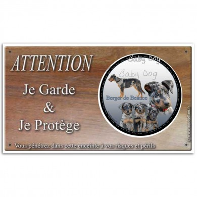 Pancarte attention chiot beauceron