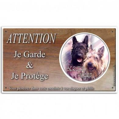Pancarte chien de Berger Picard
