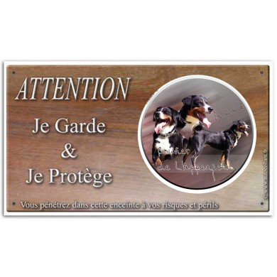 Plaque de garde Attention au Chien - bouvier_appenzell