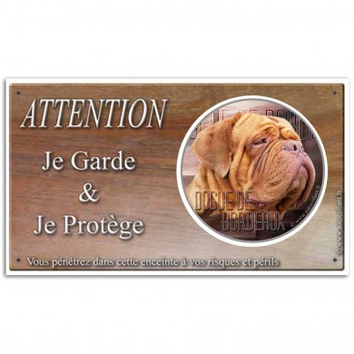 Petit panneau attention Dogue De Bordeaux