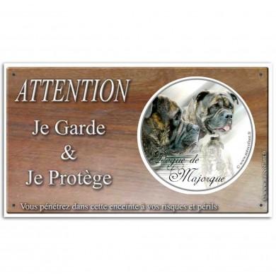 Pancarte chien de garde Ca de Bou
