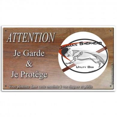 Pancarte chien personnalisée avec le logo du berger allemand