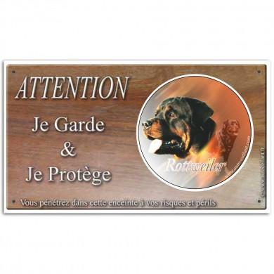 Plaque chien humoristique de Rottweiler