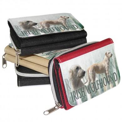 Porte monnaie irish wolfhound froment