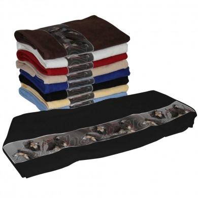 Serviette coton afghan hound noir et feu pour Chien
