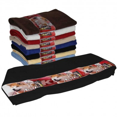 Serviette coton akita inu multicolor pour Chien