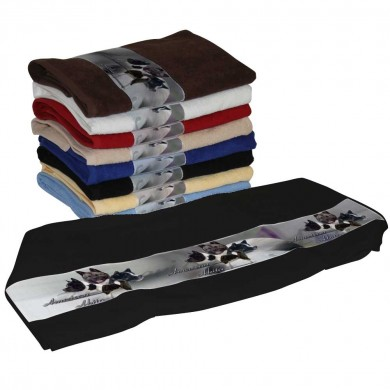 Serviette coton american akita pour Chien