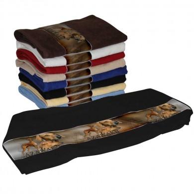 Serviette coton azawakh pour Chien