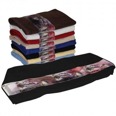 Serviette coton barzoi pour Chien