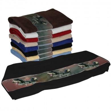Serviette coton basset bleu de gascogne pour Chien