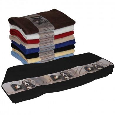 Serviette coton basset hound tricolor pour Chien