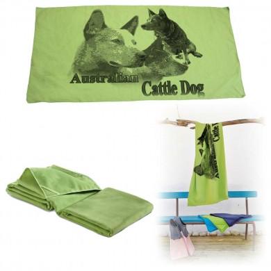 Serviette microfibre de bain australian cattle dog