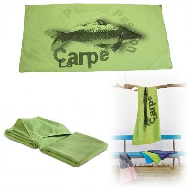 Serviette microfibre de bain carpe
