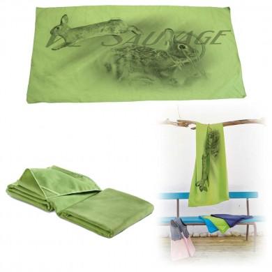 Serviette microfibre de bain lapin de garenne