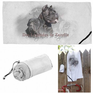 Serviette microfibre de sport cane corso zazelle