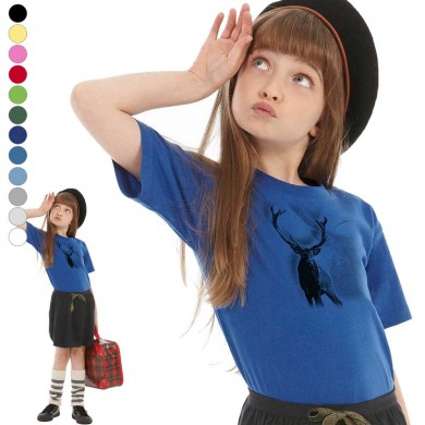 T-shirt  Cerf enfant en 11 couleurs disponibles