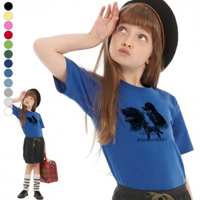 T-shirt  Grand epagneul de munster enfant en 11 couleurs disponibles