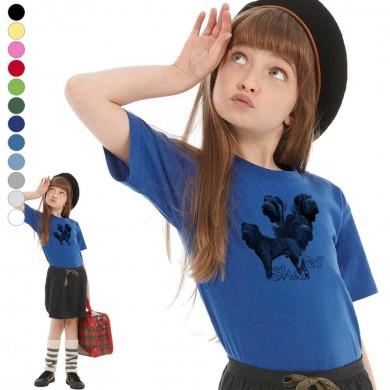 T-shirt  Shar Pei enfant en 11 couleurs disponibles