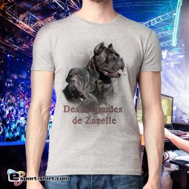 Tee-shirt de cane corso zazelle en polyester touché coton