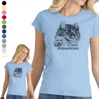 T-shirt  American Curl pour femme en 8 couleurs disponibles