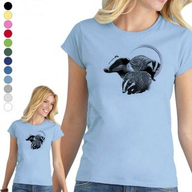 T-shirt  blaireau pour femme en 8 couleurs disponibles