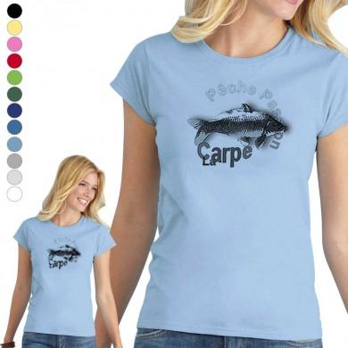 T-shirt  Carpe pour femme en 8 couleurs disponibles
