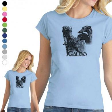 T-shirt  Galgo espagnol pour femme en 8 couleurs disponibles