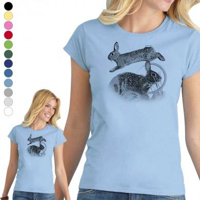 T-shirt lapin de garenne femme