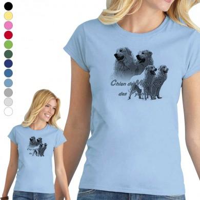 T-shirt  Montagne des pyrenee pour femme en 8 couleurs disponibles