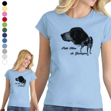 T-shirt  Petit bleu de gascogne pour femme en 8 couleurs disponibles