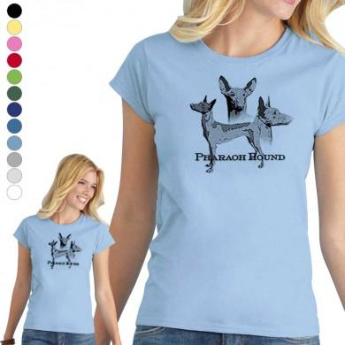 T-shirt  Pharaoh Hound pour femme en 8 couleurs disponibles