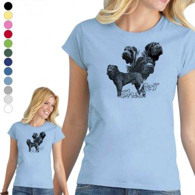 T-shirt  Shar Pei pour femme en 8 couleurs disponibles