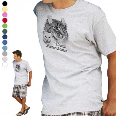 T-shirt  American Curl pour homme en dix couleurs disponibles