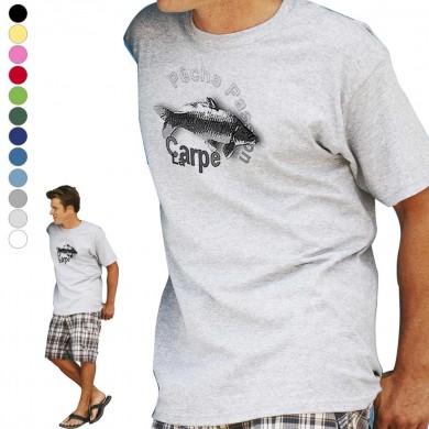 T-shirt  Carpe pour homme en dix couleurs disponibles