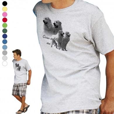 T-shirt  Montagne des pyrenee pour homme en dix couleurs disponibles