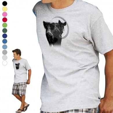 T-shirt  Sanglier pour homme en dix couleurs disponibles