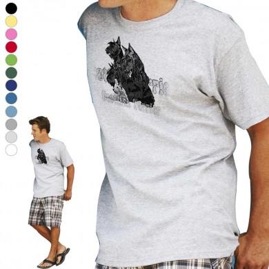 T-shirt  Scottish Terrier  pour homme en dix couleurs disponibles