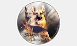 Autocollant chien de berger allemand