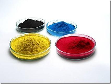 pigment magenta, blue, yellow pour impression autocollant