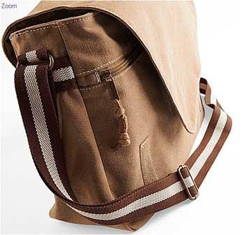 vue de coté du sac pour chien