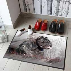 Tapis de sol de l'élevage de cane corso Des Légendes de Zazelle
