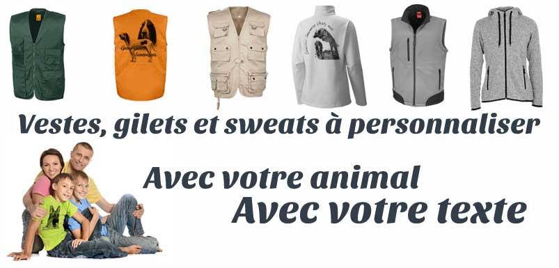 Vestes de chasse et gilets de sécurité avec votre animal