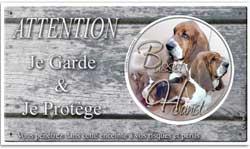 plaque pour chien de chasse basset hound