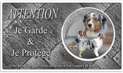 pancarte chien avec un animal domestique