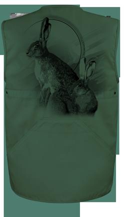 Personnalisation d'un lievre sur une veste de chasse