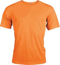 T-shirt orange fluo homme polyester