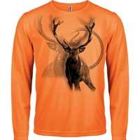 Textile léger à manche longue en orange fluo